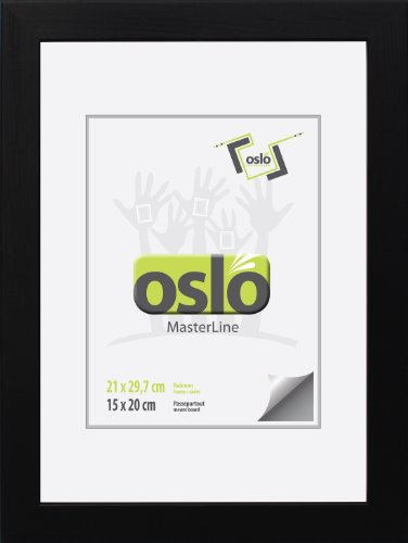 Bilderrahmen 21x30 DIN A4 (exakt 21x29,7), schwarz, Urkundenformat, massiv Holz (FSC-zertifiziert),...