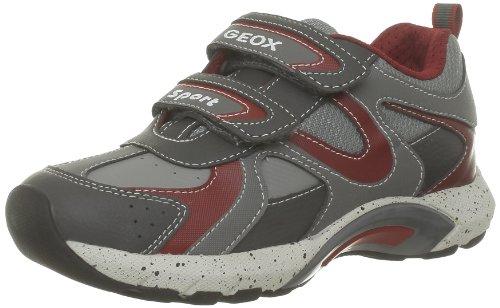 Geox J STARK S J34L8S00411C0051 Jungen Sneaker Grau (GREY/RED C0051)