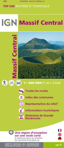 TOP200204 MASSIF CENTRAL  1/200.000