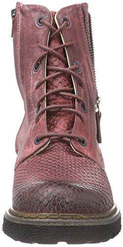 Yellow Cab Damen Officer W Biker Boots Rot (Bordeau)