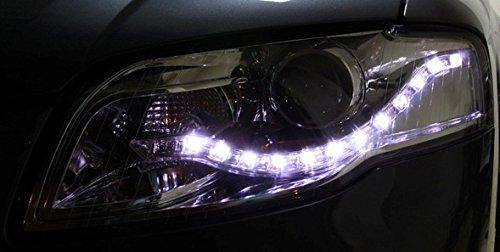Eagle Eyes Scheinwerfer Set in Klarglas Chrom, mit LED Tagfahrlicht Optik