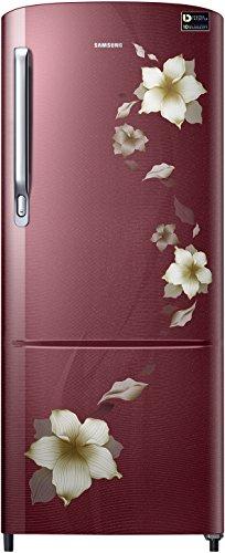 Samsung 230 L 4 Star Direct-cool Single Door Refrigerator (RR24M274YR2/NL, Star Flower Red, Inverter Compressor)