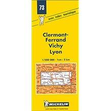 Carte routière : Clermont-Ferrand - Vichy - Lyon, 73, 1/200000