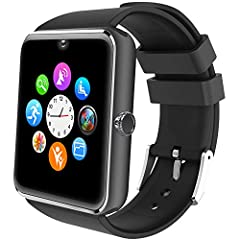 Idea Regalo - Willful Smartwatch Telefono Touch con SIM Slot Smart Watch Android Wear Orologio Fitness Uomo Donna WhatsAPP Notifiche Fitness Activity Tracker Contapassi Smartband Sport per Samsung Huawei Xiaomi