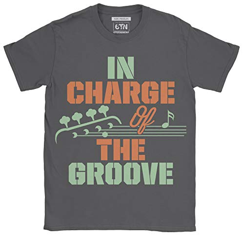 6TN Herren Verantwortlich für das Groove Bass Guitarist T Shirt (M, Holzkohle)