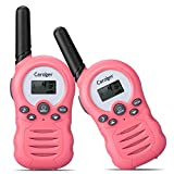 Caroger PMR Funkgerät Walkie Talkies 8 Kanäle Walki Talki Funkhandy Interphone mit LC-Display Rosa