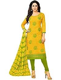 Applecreation Women'S Cotton Jacquard Unstitched Salwar Suit Dress Material (Free Size)