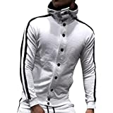 Herren Jumpsuit Overall Herbst Winter Kapuzenjacke Casual Button Sweatshirt Top Hose Sets Sport Anzug Trainingsanzug Jogger Einteiler Overall Jogging Anzug Trainingsanzug Felicove