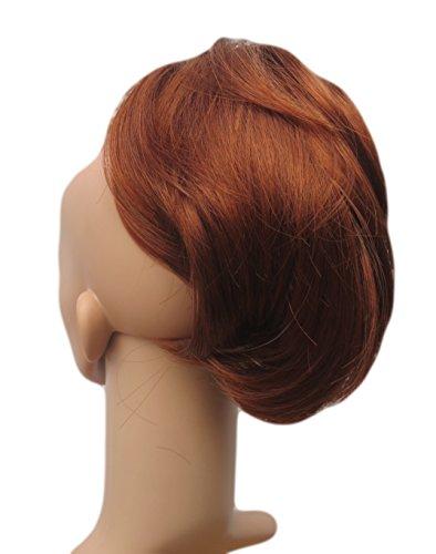Toutes les couleurs disponibles, Petite Pince Extension De Cheveux Agréable À Porter Pour Queue De Cheval, Rouge Feu Cuivré Bordeaux