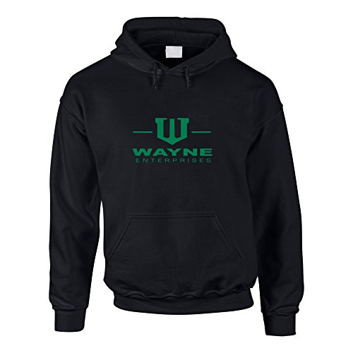 Shirtdepartment Hoodie Batman Wayne Enterprises Kapuzenpullover Sweater, schwarz-grün, -