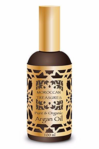 Arganöl Kaltgepresst 100ml. Marokkanisches Haaröl/Haarkur 100{9ed3322853a5bcb4c6684b083c3285444d148a5a0fd685f940d003bae2784588} Bio. Haarwachstum Beschleunigen. Haarpflege Argan öl von Agadir. Arganöl Haare. No Paraben, No Silikonen, No Parfümen. Reines Arganöl und Organische, Moroccan Treasures.