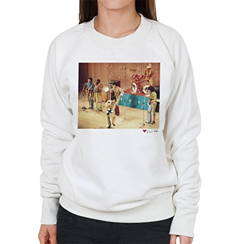 Don't Talk To Me About Heroes David Redfern Official Photography - The Jackson 5 At The Royal Variety Performance White Women's Sweatshirt