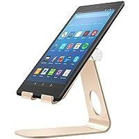 MoKo Soporte para Kindle Fire Tablet/E-Reader,Titular de Aluminio Giratorio de ángulo múltiple de 210°para Kindle Fire 7 2017/ HD8 2017/ HD10 2017/Kindle Paperwhite/Oasis 2017/Voyage, Oro Rosa