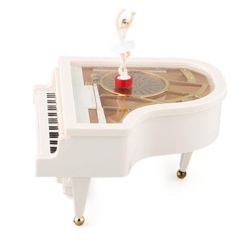 TOOGOO(R) Carillon Music Box Music Box Grand Piano Weiss Ballerina New Glockenspiel Music Box