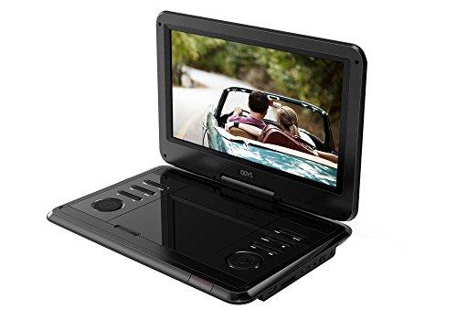 Odys Furo 12 tragbarer DVD Player X820023 (29,5 cm (11,6 Zoll) drehbarem Display, hochauflösendes digitales Panel (1366 x768 Pixel), USB Eingang, SD-Kartenfach) schwarz