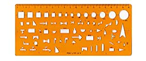 Isometric Piping Template, Drafting Tool - Drainage Template, Flexible Unbreakable Plastic by Uni