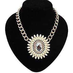 Get Et foulard de collier volumineux de femme avec un collier de fleurs Charms Big unique , Multicolore
