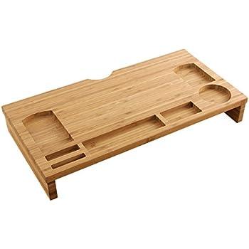 homfa bambus bildschirmst nder monitorst nder schreibtischaufsatz bildschirmerh her als. Black Bedroom Furniture Sets. Home Design Ideas