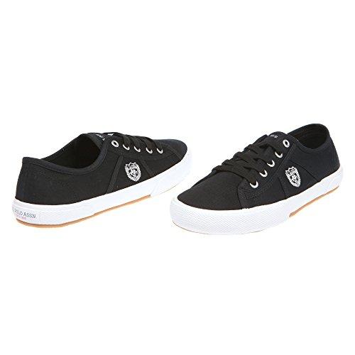 U.S. POLO Sneaker Herrenschuhe mit Schnürsenkeln - mod. SOLAN4189S7-C1 Schwarz