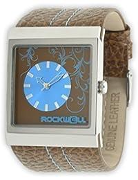 Rockwell Mercedes De piel marrón/ Blue MC115 reloj de pulsera para mujer