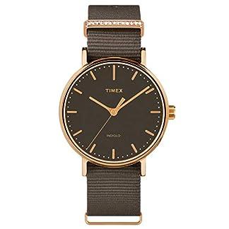 Timex-Damen-Analog-Armbanduhr-Fairfield-Crystal-mit-Nylon-Armband