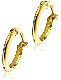 6ee44214d519 Orovi pendientes de mujer aros en oro amarillo 18 kilates ley 750