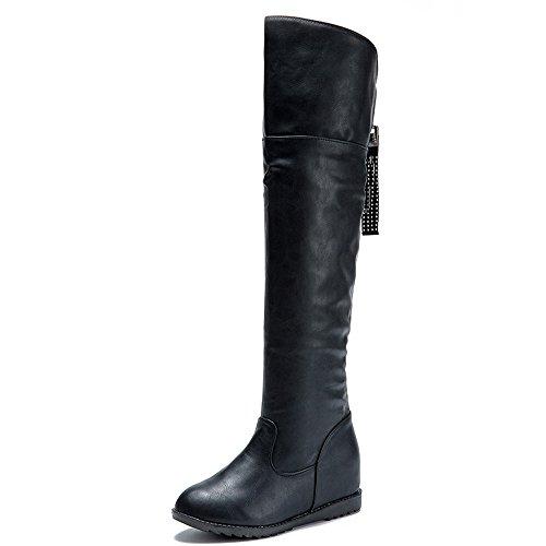 Stivali donna aumentato oltre la lunghezza scarpe da ginnastica sportive stivaletti scarpe da casual caviglia stivali tacco alto da stivali a testa tonda stivali sandali stivali lunghi qinsling