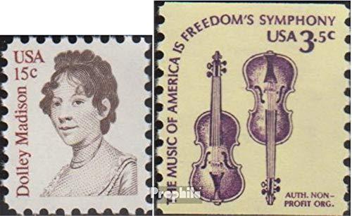 Prophila Collection USA 1428,1430y (kompl.Ausg.) 1980 Dolly Madison, Americana (Briefmarken für Sammler) Musik / Tanz (Musik Dolly)