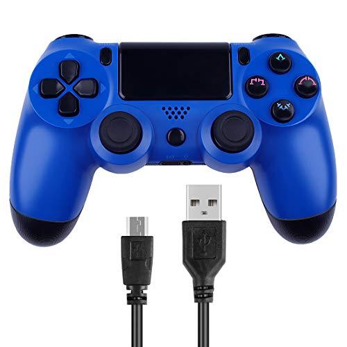 Manette de jeu sans fil Gollec pour manette de jeu Playstation 4 PS4 Double Shock Compatible avec PC Windows et Android OS - avec câble de charge USB