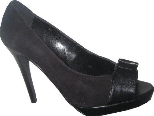 Peeptoes High Heels von Apart in Schwarz Schwarz