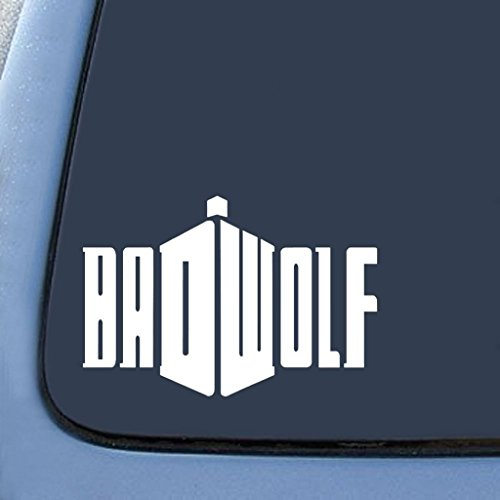 Badwolf Doctor Who Sticker Decal Notebook Car Laptop | White | 7 In | KCD214 (Doctor Who Dalek Kostüme Für Kinder)