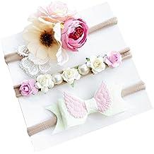 Diademas Bebe Niña Diademas Bebe Recien Nacidos K-youth® 3pcs Moda Lindo Flores  Diademas 5260261ed30d