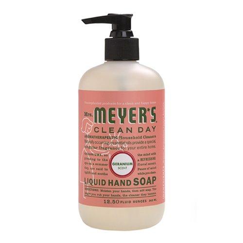 Madame Meyers Clean Day savon liquide pour les mains, parfum de géranium, de 12,5 fl oz (370 ml) 2.5 x 2.5 x 6 inches