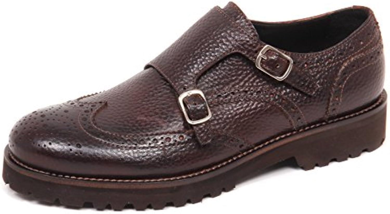 CARACCIOLO E0578 Scarpa Uomo Brown 1971 Scarpe Scarpe Scarpe doppia Fibbia Vintage Shoe Man cc5b25
