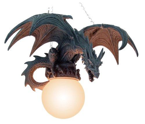 Lámpara de techo de dragón en el vuelo de la lámpara de-