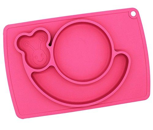 4AHero-Innovations-Babyschale-aus-Silikon-fr-Baby-und-Kleinkinder--Kinder-Schssel-mit-Lerneffekt-fr-Ihr-Kind-Baby-SchsseIn-Schnecken-Form-Rosa-Kleinkind-Teller