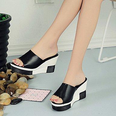 Zhenfu Femme Pantoufles Et Tongs Printemps Été Club Comfort Chaussures Tout Match Bride Corée Mode Style Ca Robe Noire