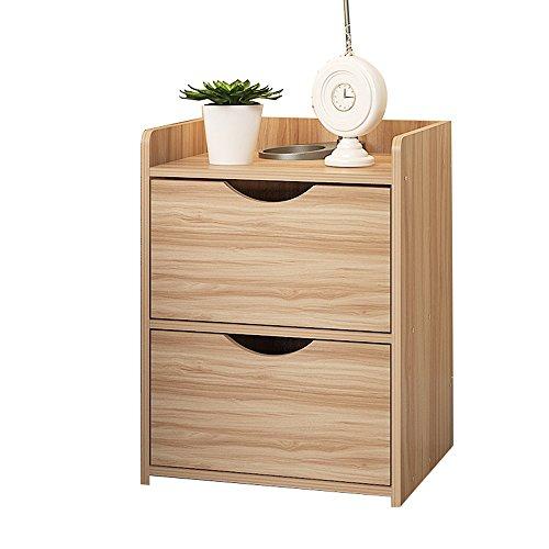 Shelf ZHANGRONG- Bedside Cabinets \ Schließfächer \ Storage Cabinets \ Einfache Und Moderne Bett Locker Einfache Montage Von Nachahmung Holz - Wanddekoration (Farbe : A- Light Walnut) - Sockel-storage-bett