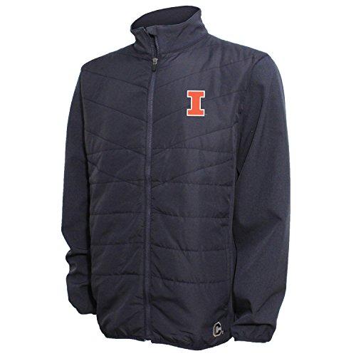 Crable NCAA Herren Gesteppte Vorderseite Panel Bonded Jacke, Herren, Quilted Front Panel Bonded Jacket, Navy/Navy Heather, Small Quilted Zip-front-jacke