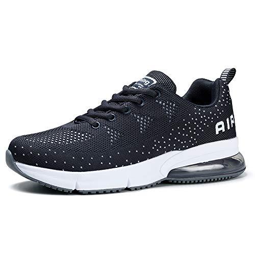 STQ Damen Schuhe Sportschuhe Mesh Atmungsaktiv Laufschuhe Freizeit Outdoor Sport Sneaker Turnschuhe Walking Schuhe(Dunkles Grau39)