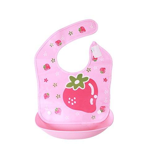 Blaward Unisex Baby Lätzchen Wasserdichte Drooler Lätzchen Bandana mit Snap Silikon Tasche einstellbar