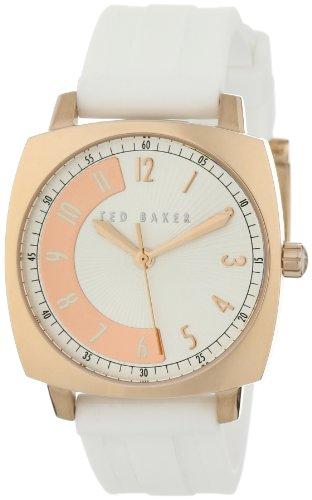 Ted Baker TE2069 - Reloj analógico de cuarzo para mujer con correa de silicona, color blanco
