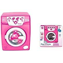 Lavadora rosa de juguete
