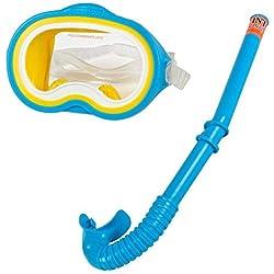 Intex - 55942 Lunettes de plongée avec tuba - set d' Aventurier - Bleu (jaune/blanc)
