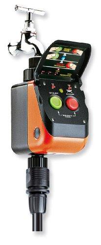 Claber 50167 8414 Aquauno Pratico Plus Programmatore, Nero/Arancione