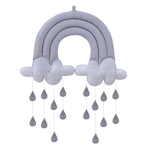 Lalang DIY Wolken und Wassertropfen Hängende Ornament für Babyzimmer, Hochzeit Geburtstag, Party Dekoration (003#)