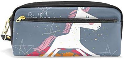 Unicorn avec Rainbow coloré Trousse Boîte avec compartiHommes ts avec fermeture Éclair pour enfants filles garçons Sac de maquillage Cuir B07KM26YWX | Insolite