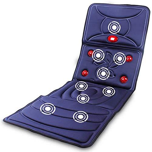 10 Motor-massage-matte (D&F Elektrische Massagematte,Multifunktions Ganzkörpermassage Matte zusammenklappbar Bed Massage relieves Pain 10 Motoren,Blue)