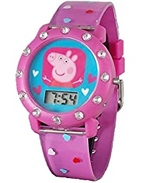 Peppa Pig niña de reloj Digital con brillantes, color rosa