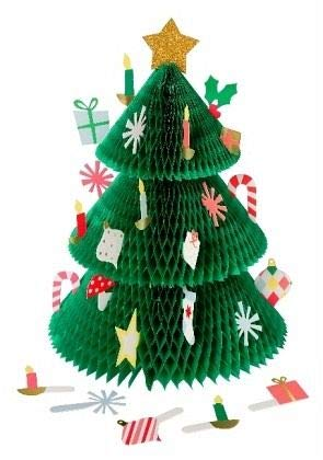 Honeycomb Tree Advent Calendar Decoration